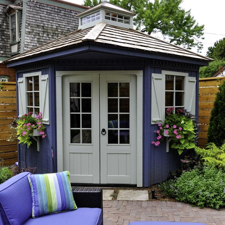 summer house with acrylic glazing panels