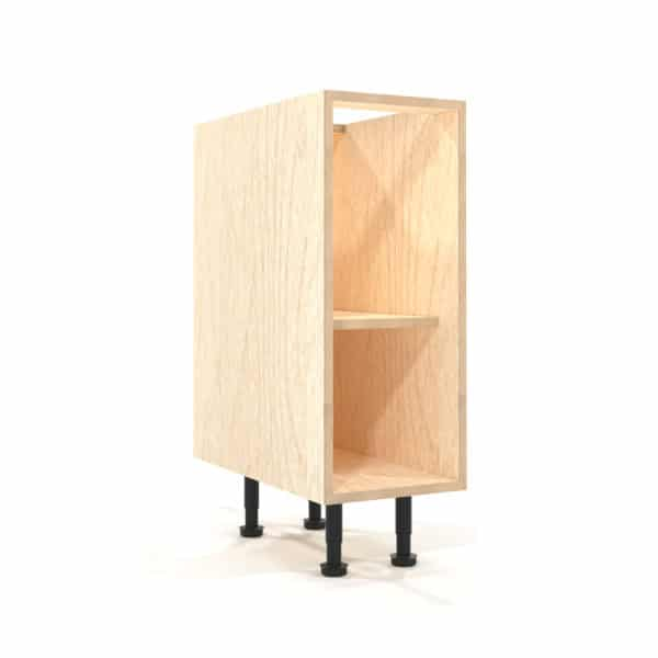 a rendering of a 300mm birch plywood kitchen base unit on a white background