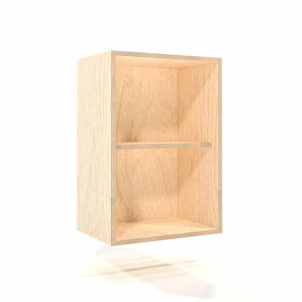 a rendering of a 500mm birch plywood kitchen wall unit on a white background