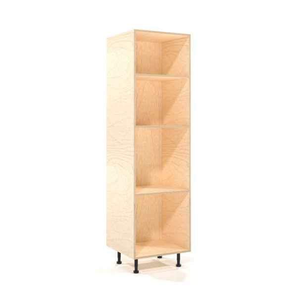 a rendering of a 600mm wide birch plywood kitchen larder unit