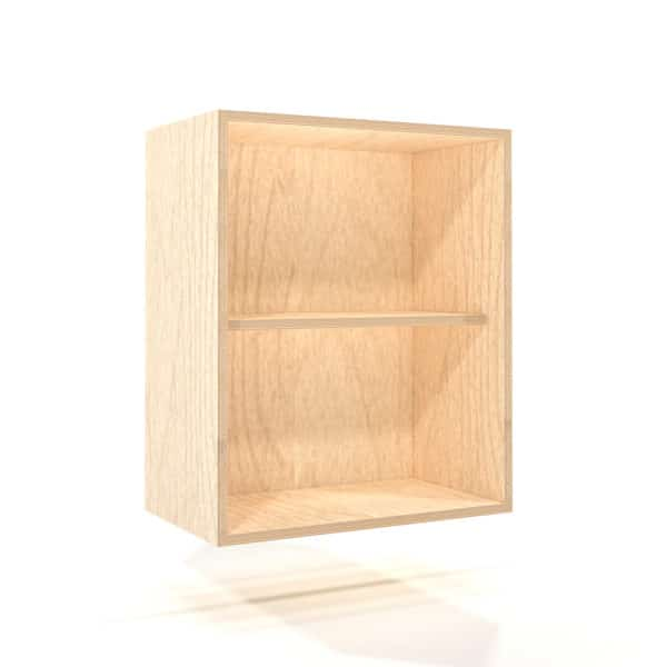 a rendering of a 600mm birch plywood kitchen wall unit on a white background