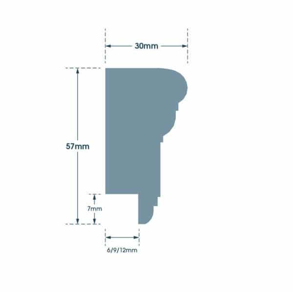 wall panelling dado rail dimensions
