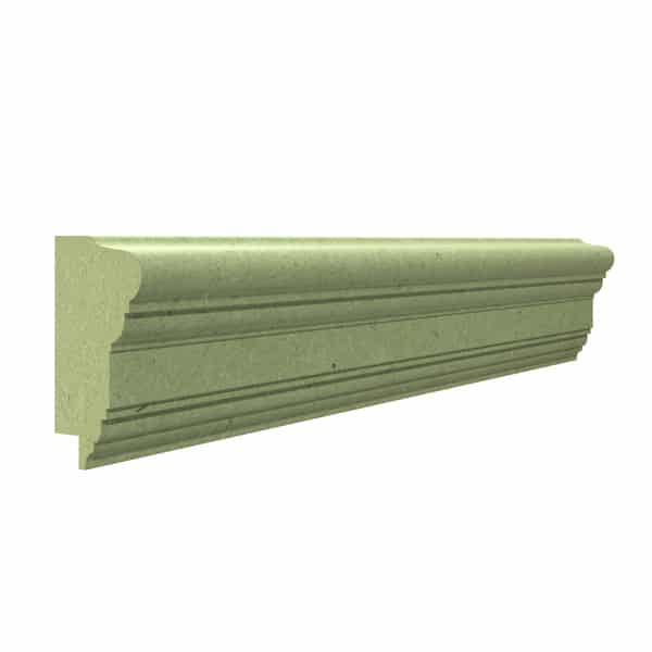 A rendering of a piece of wall panelling dado rail