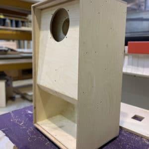A Birch Plywood speaker cabinet
