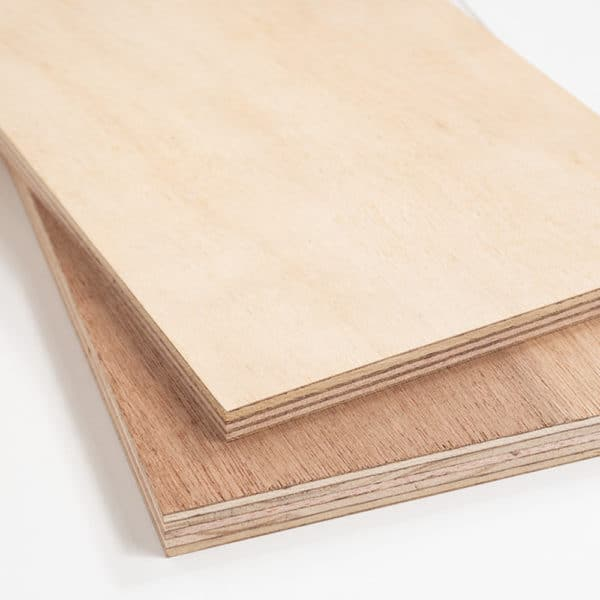 2 pieces of hardwood plywood stacked on top of each other
