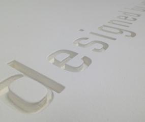 CNC Engrave Foamalux Lettering