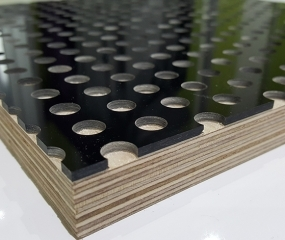 CNC Perforated Acrylic with Plywood